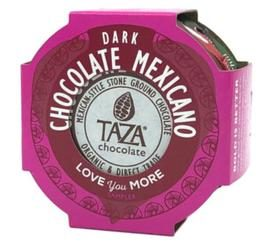 Taza stone ground chocolate in pink package