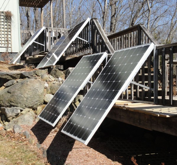 5 DeckPower DIY solar panels from SpinRay Energy