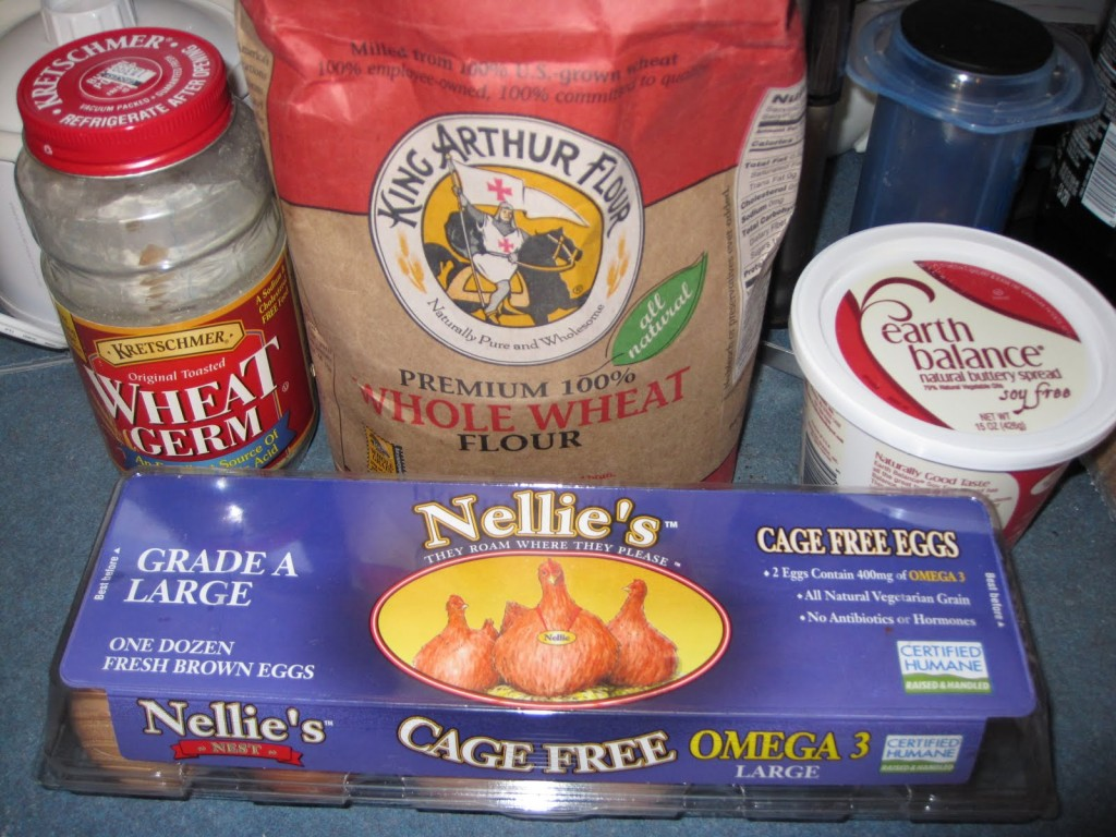 organic flour, eggs and other healthy ingredients