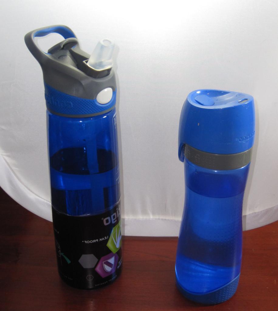 2 water reusable bottles
