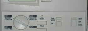 programmable thermostat open for programming