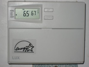 energy star programmable thermostat set to 67
