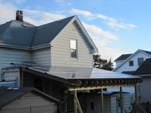 solar pv awning on the back side of house
