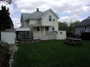 picture of our home from the backyard