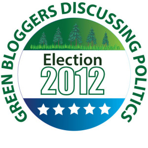 Green Blogger Election Button for 2012
