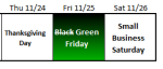 Greening Black Friday