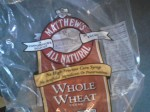 bag of whole wheat bread
