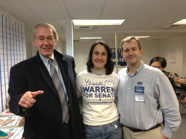 Congressman Markey, Alicia Hunt and Jonathan Hunt