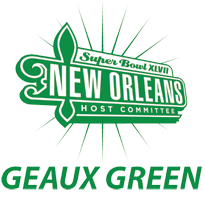 Super Bowl 47 New Orleans Geaux Green