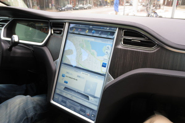 "17"" Touchscreen on Tesla Model S"