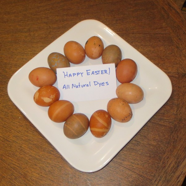 brown dyed eggs