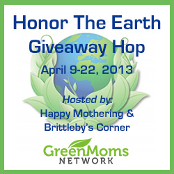 Honor the Earth Giveaway Hop - Apr 9-22, 2013 hosted by Happy Mothering & Brittleby's Corner on Green Moms Network