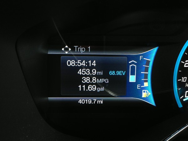Trip display for Ford C-Max