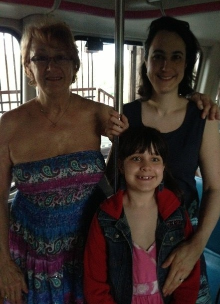 Me, my mom and my daughter