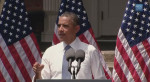 President Obama without his jacket in the sweltering heat in DC