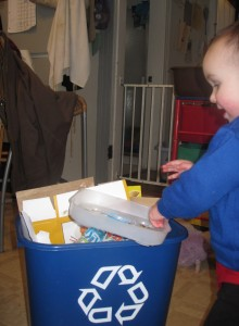 toddler recycling