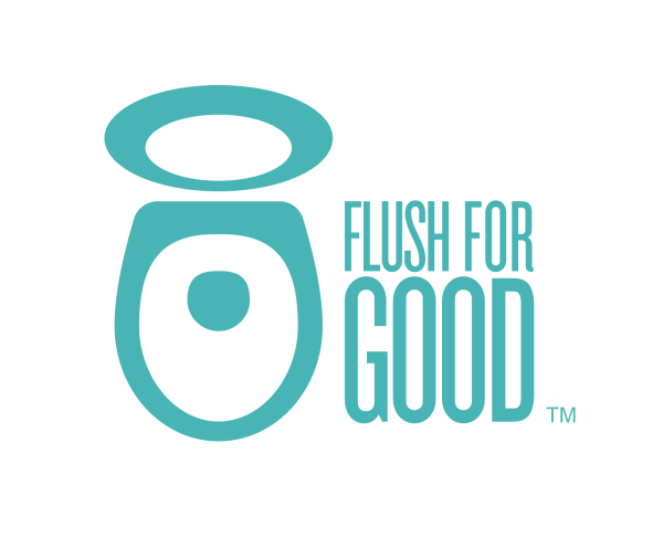 clipart toilet seat with text flush for good