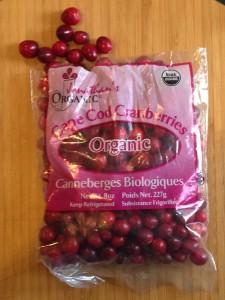 bag of organic cranberries