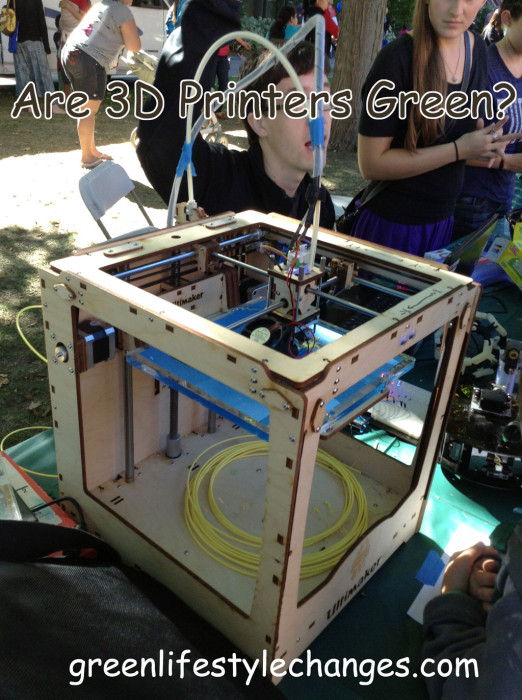 Picture of MakerBot with question Are 3D Printers Green?