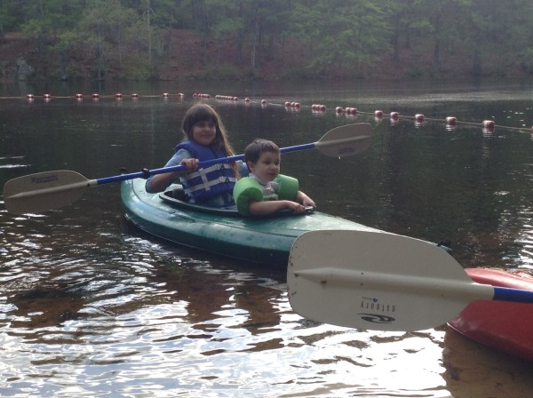 kayaking children
