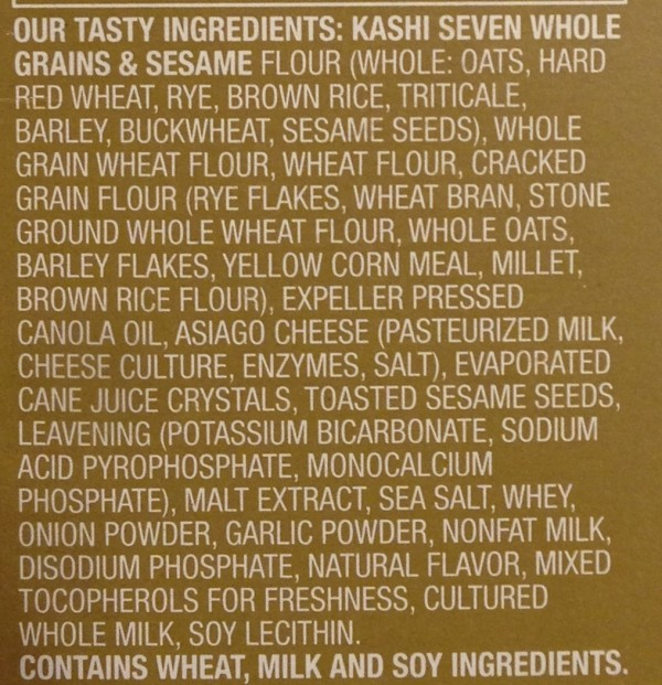 Kashi label of ingredients