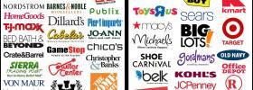 Shop this: Costco, DSW, Nordstrom, Barnes & Noble, Nordstrom, HomeGoods, Publix, TJ Maxx, Pier 1 Imports, Dillard's, Jo-Ann Fabrics, Gordmans, BJs, Crate & Barrel