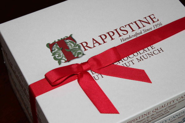 Trappistine Candy Boxes with red ribbon