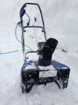 SJ621 Electric Snow Blower in the snow