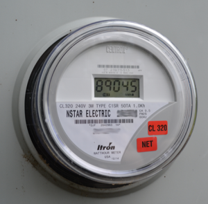 Jeff's Solar Electric Meter