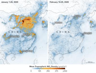 corona virus emissions comparison