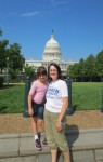 Alicia and Ellie outside the Capital