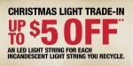Get up to $5 off for each incandescent sting of Christmas lights you recycle