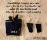 Green Holidays Solar Panel Jewelry Giveaway