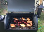 food on wood pellet grill
